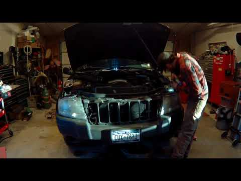 THE EASY WAY!!! To remove your 99-04 jeep grand cherokee radiator!!!