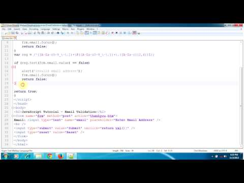 JavaScript Tutorial - Email Validation, Check email address format