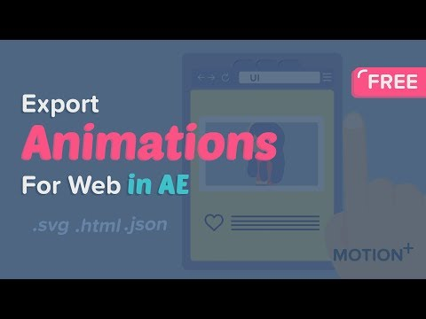 How to use BodyMovin to export animations for web To SVG,JSON,HTML After Effects Tutorial -