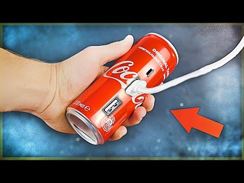 HOW TO MAKE POWER BANK FROM COKE