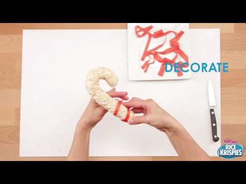 How to Make a Candy Cane Rice Krispies Treat