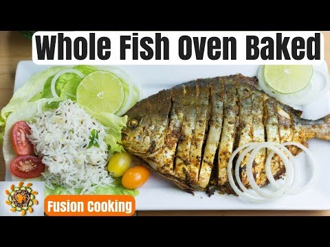 Thanksgiving Whole Fish Recipe | Whole Fish Oven Baked | Whole Fish Indian Style