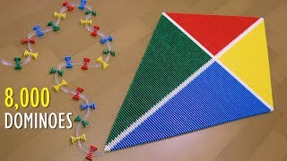 8,000 Dominoes  - The Kite REBUILT