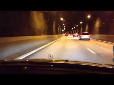 W211 E63 in tunnel