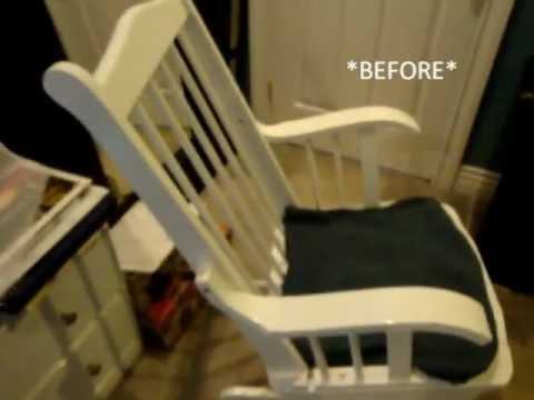 Rocking Chair / Glider Transformation Thrift Store Find!