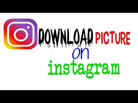 how to make downloaded picture on instagram