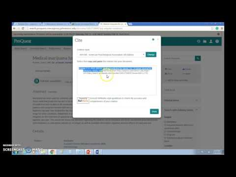 Formatting APA Annotated Bibliography