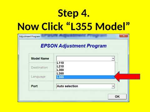 Reset Epson L110 L210 L300 L350 L355 L550 by Adjustment Program