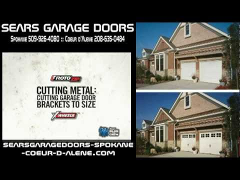 RotoZip Cutting Metal Cutting Garage Door Brackets To Size from Sears - Spokane - Couer D Alene