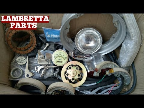 Lambretta Scooter Parts Unboxing At Home Video Along With Small Explanation Of Parts On YouTube