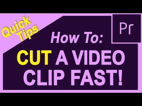 Quick Tip 1 -  How to Cut a Video in Adobe Premiere Pro, Premiere CC, 2015, 2014, CS6