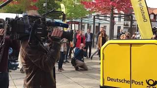 Post stellt Roboter in Bad Hersfeld vor