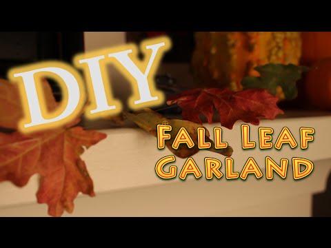 DIY Fall Decoration Leaf Garland