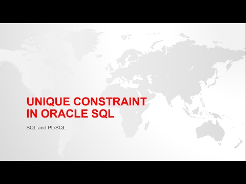 UNIQUE KEY CONSTRAINT IN ORACLE SQL WITH EXAMPLE