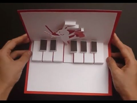How To Make Rabbit Playing Piano - Happy Easter Pop Up Card Tutorial