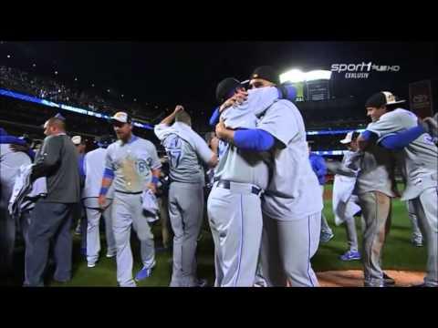 Kansas City Royals On Field Celebration After Winning 2015 World Series