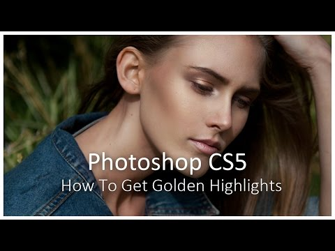 [Photoshop CS5] How To Get Golden Highlights
