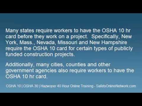OSHA 10 Hr Card - Online Training.wmv