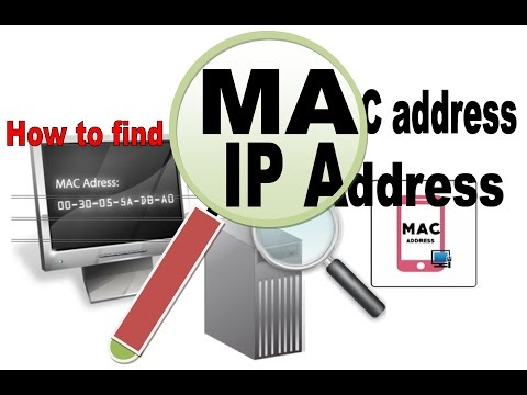 How to find ip address and MAC address another computer