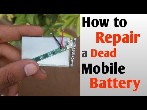 How to repair a dead battery without DC Machine or Universal charger ? hindi