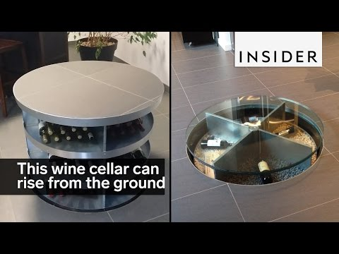 This hidden wine cellar comes out of the ground