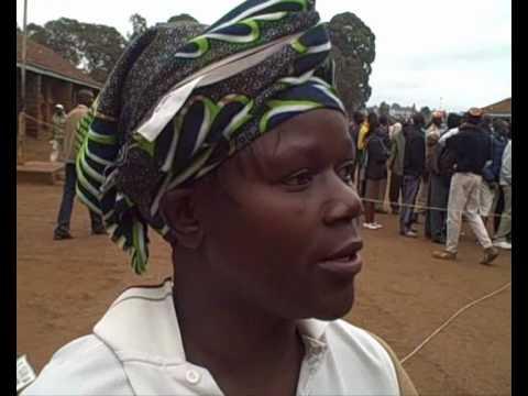 Voting at Old Kibera polling station