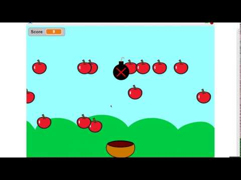 Tutorial of how to create a catch game in scratch 2.0