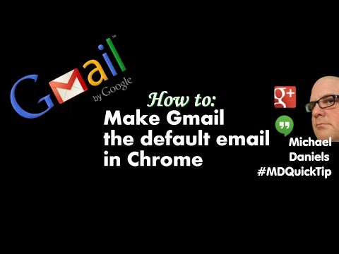 How to make your gmail the default in Chrome