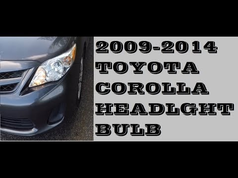 How to EASY replace Headlight bulb Toyota Corolla 2009-2014