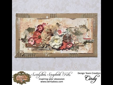 ~Swirlydoos Kit Club~ Tutorial mixed media page By Cindy Brow