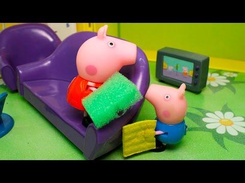 Свинка Пеппа готовит черничный пирог Лепим