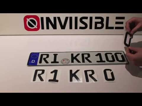 Make your license plate invisible - EU style - 100% effect