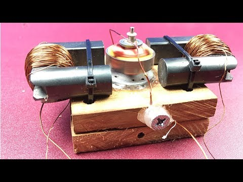 How to Make Simple Small Electromagnetic DC Motor Without Magnet
