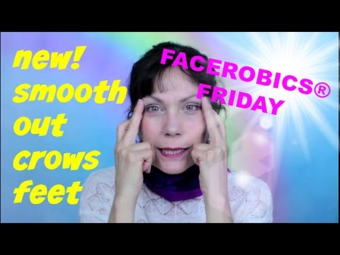 How to Get Rid of Crows Feet around the Eyes | Smooth Wrinkles | FACEROBICS® Facial Exercise