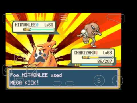 Battling the elite 4 Pokemon fire red