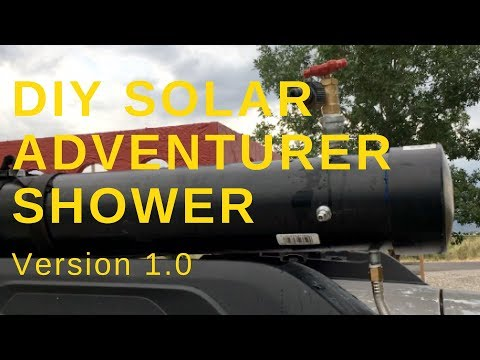 DIY Adventure Solar Shower Version 1.0