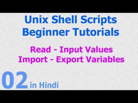 02 - Unix Shell Scripts - Read | Input Value - Datatypes - Variables