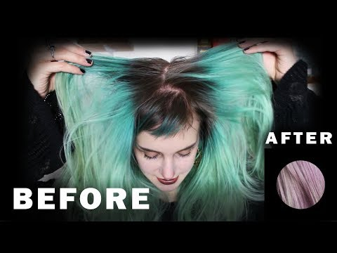 How to: GET RID OF GREEN HAIR without bleach | Manic Moth