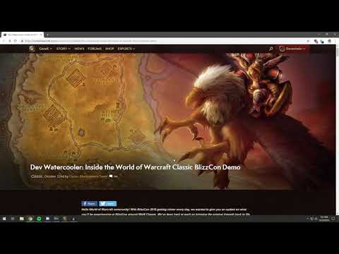 New WoW Classic Demo News! Summary, What Levels, Zones, Etc