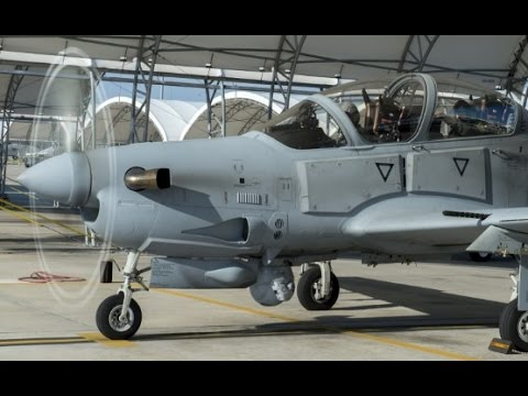 CHEEP AND SIMPLE US Air Force A29 Turbo prop Aircraft flying