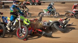 Superfinal Open (Crashes/Falls) - III Dirt Track Alcarrás 2015(UHD/4k)