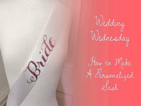 DIY Bride-to-be Sash