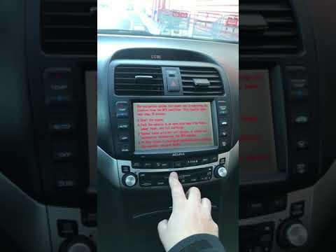 2004 - 2008 Acura TSX Radio / Navigation Code retrieval