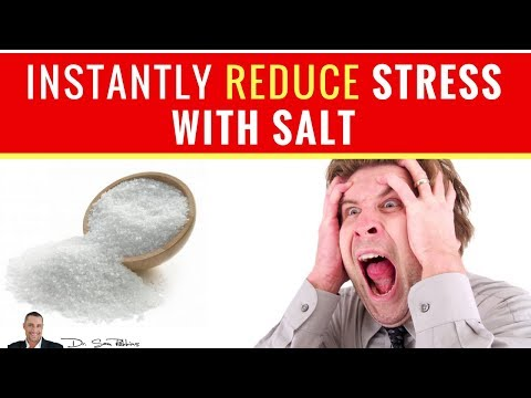 😵 How To Instantly Reduce Stress, Anxiety and Panic With Salt