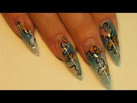 Nail art design tutorial - how to make beautiful nails