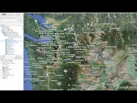 Google Earth - Working with Folders - Screen Capture