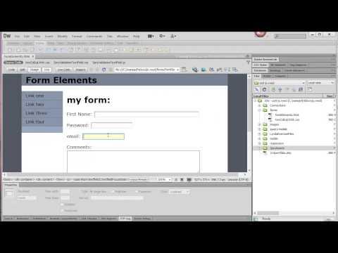 Forms in Dreamweaver CS6