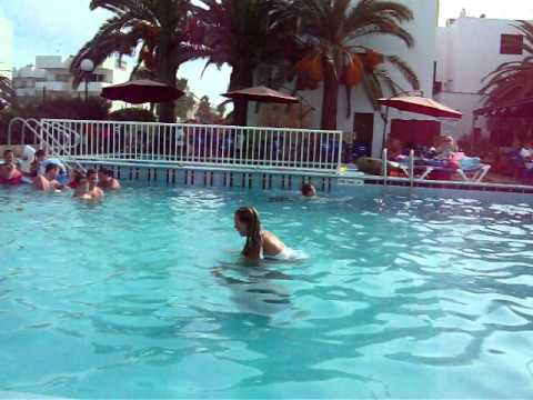 A stunning water somersault - Teletext Holidays TV Star Competition