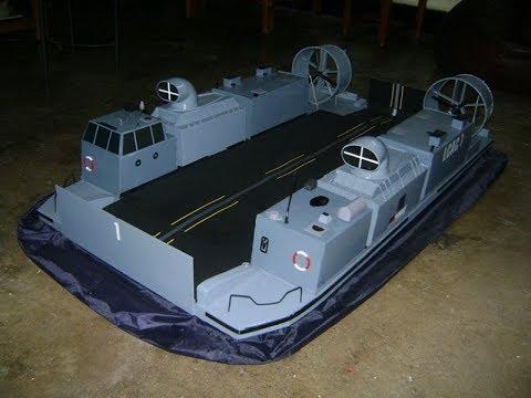 RC Hovercraft LCAC scratchbuilt.flv