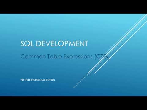 SQL TUTORIAL - CTEs Part 1